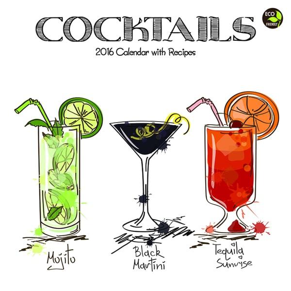 2016 Cocktails Wall Calendar