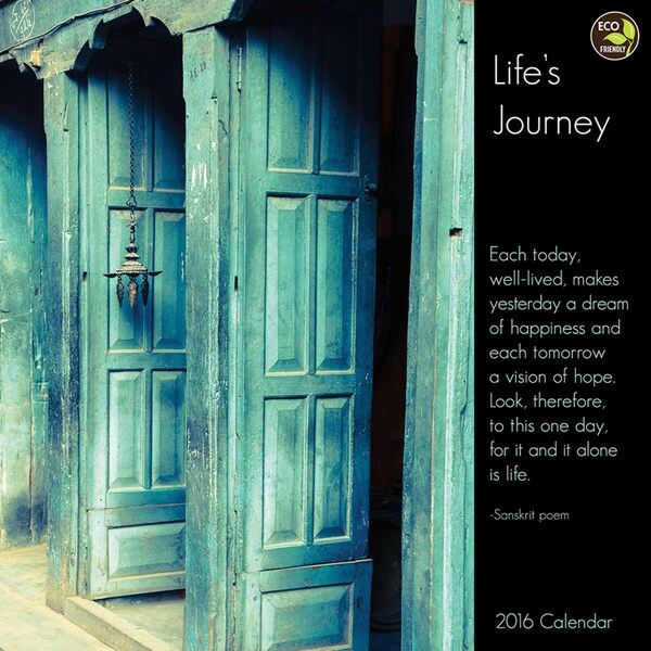 2016 Lifes Journey Wall Calendar