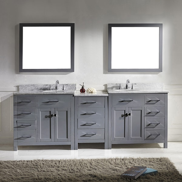 Virtu Usa Caroline Parkway 93 Inch Double Bathroom Vanity