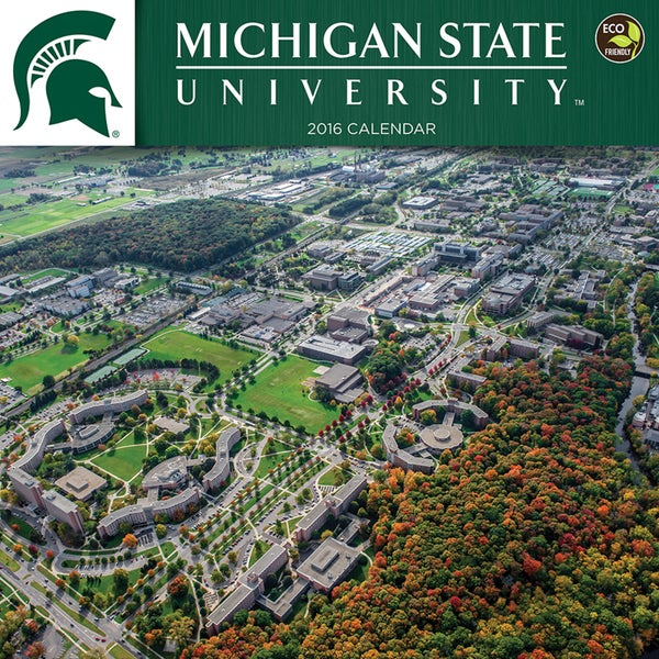2016 Michigan State University Wall Calendar