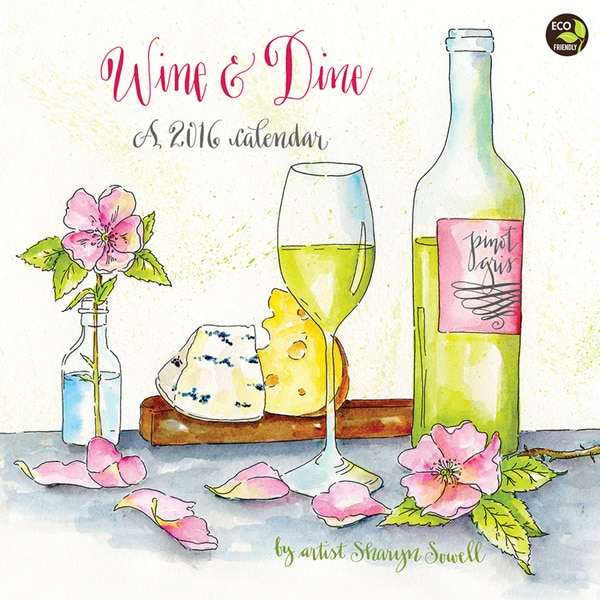 2016 Wine and Dine Wall Calendar