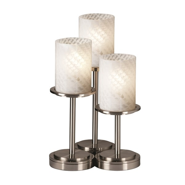 Justice Design Group Fusion Dakota 3-light Brushed Nickel Portable