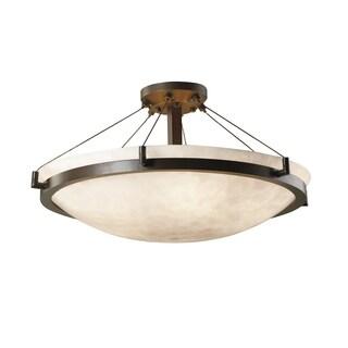 Justice Design Group Clouds Ring 6-light Dark Bronze Semi-Flush