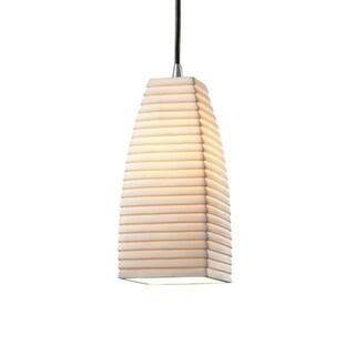 Justice Design Group Limoges 1-light Brushed Nickel Pendant