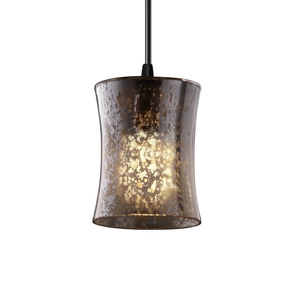 Justice Design Group Fusion Hourglass 1-light Matte Black Pendant