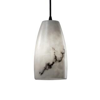 Justice Design Group LumenAria Tall 1-light Matte Black Pendant