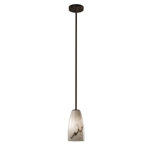 Justice Design Group LumenAria 1-light Dark Bronze Pendant, Rigid Stem Kit