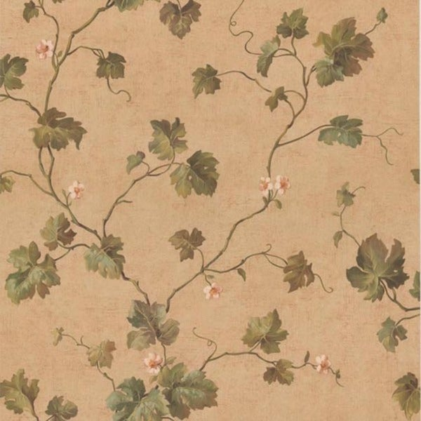 Beige Ivy Trail Wallpaper