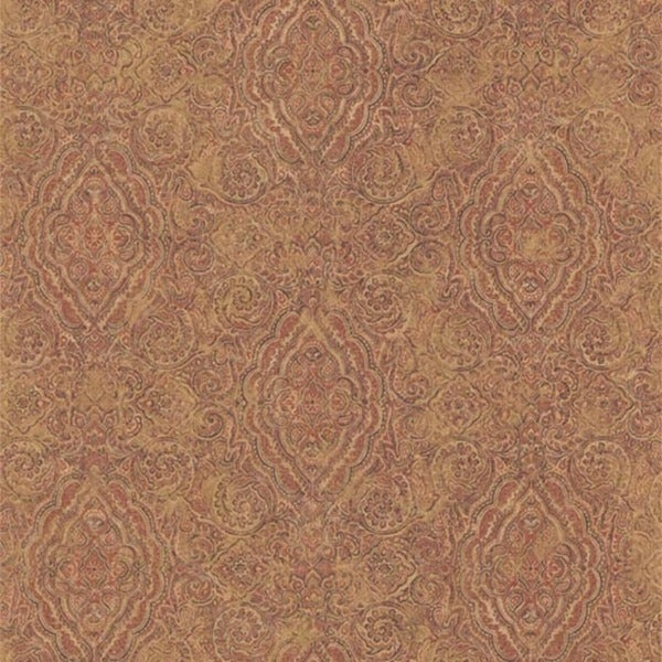 Marsala Paisley Medallion Wallpaper