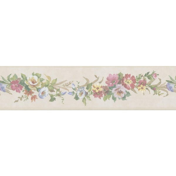 Green Botanicals Floral Border