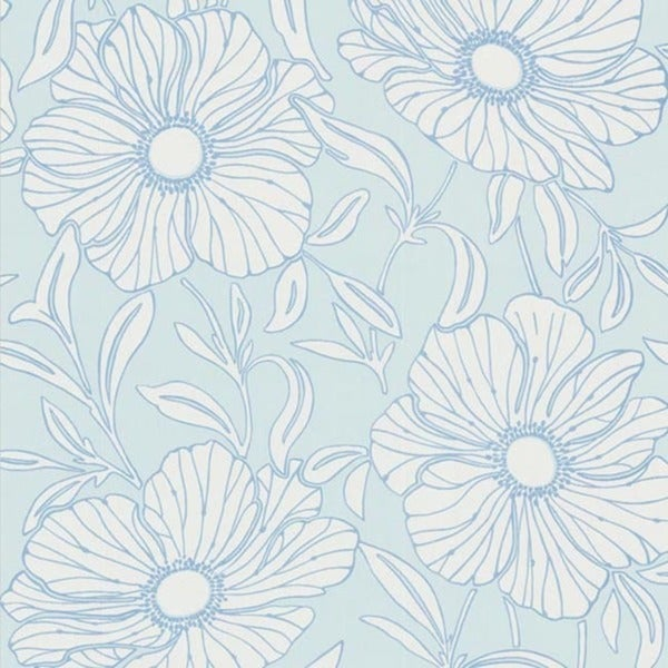 Sky Modern Floral Wallpaper