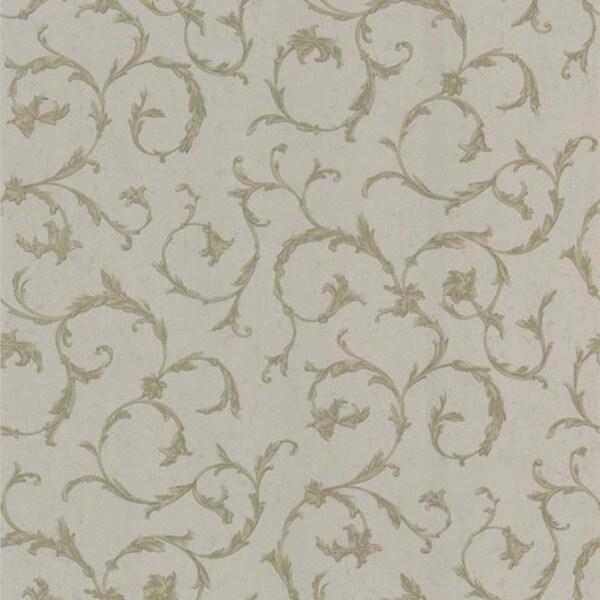Mauve Scroll Wallpaper