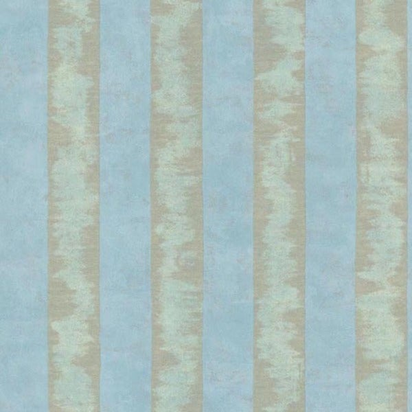Blue Textured Stripe Wallpaper