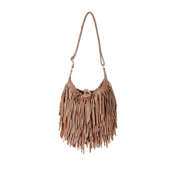 Pink Haley Fringe Crossbody Bag