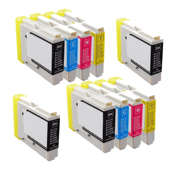 2Sets+2BK LC51 BK C Y M Compatible Ink Cartridge for Brother DCP-130C 540CN (Pack of 10)