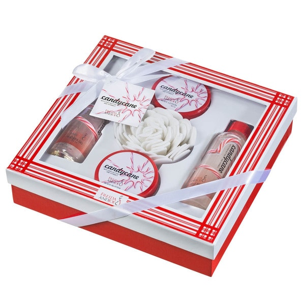 Candy Cane Bath 5-piece Holiday Gift Set