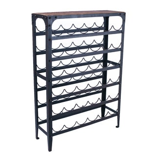 Adeco Metal Wine Rack