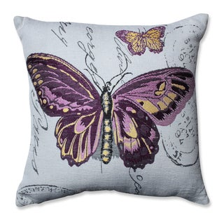 Pillow Perfect Purple Butterfly Jacquard 16.5-inch Throw Pillow