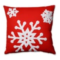 Pillow Perfect Snowflake Red 16.5-inch Throw Pillow