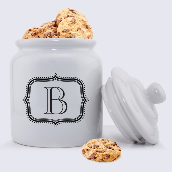 Monogramed Cookie Jar