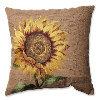 Pillow Perfect Sunflower Burlap 16.5-inch Throw Pillow