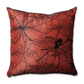 Pillow Perfect Spider Orange 16.5-inch Throw Pillow