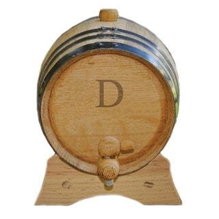 Monogrammed Mini Oak Barrel