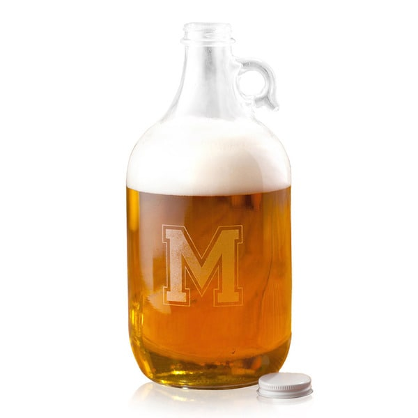 Personalized Varsity Beer Growler