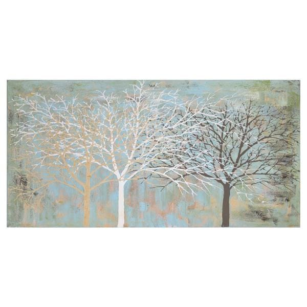 Sparse Wood Unframed Canvas Art
