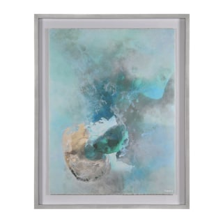 Aqua Zara Framed Canvas Art