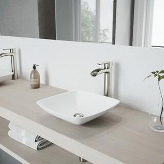 VIGO Niko Bathroom Vessel Faucet in Brushed Nickel