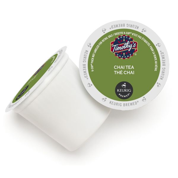 Timothy's World Coffee Chai Tea K-Cups