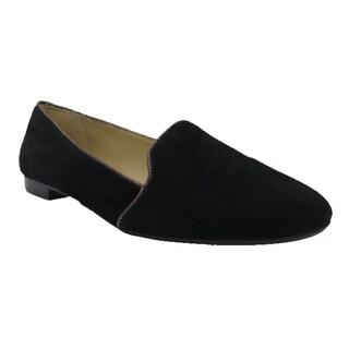 Coach Cambridge Black Suede Slippers Shoes