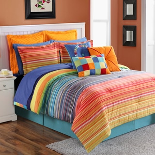 Fiesta Stripe 4-piece Comforter Set
