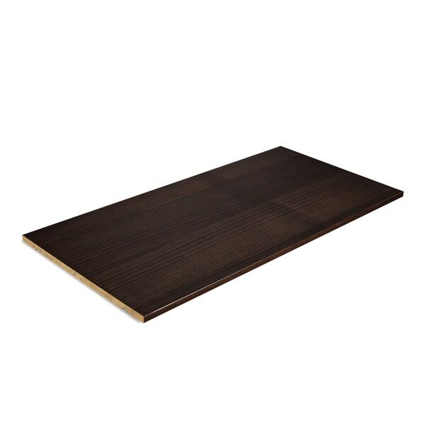 Grain Wood Furniture Shaker Solid Wood Expresso Finish Optional Wardrobe Shelf
