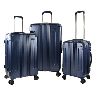 Traveler's Club Calypso 3-Piece P.E.T. Expandable Hardside Double-Spinner Luggage Set