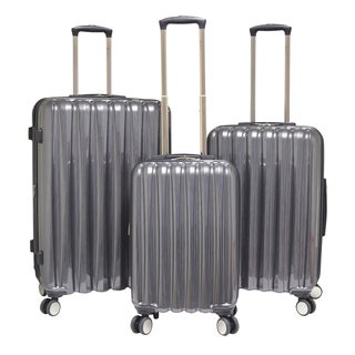 Traveler's Club Nova 3-Piece Hardside Expandable Double-Spinner Luggage Set