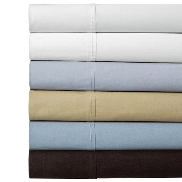 100-percent Cotton Percale 350 Thread Count Sheet Set (As Is Item)