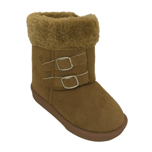 Girls' Faux Fur Lined Suede Boots