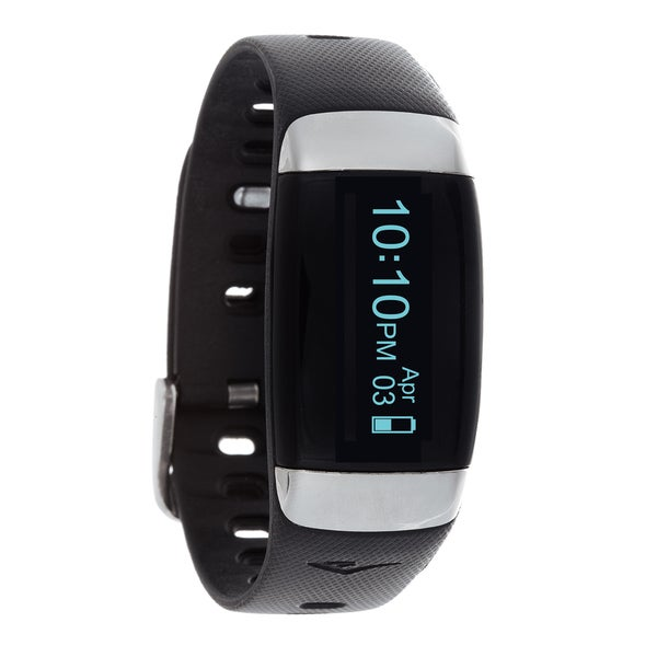 Everlast TR7 Black Wireless Activity Tracker & Heart Rate Monitor W/OLED Display Watch