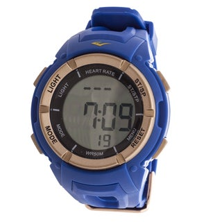 Everlast HR3 Heart Rate Monitor with Chest Strap Digital Sport Rose and Blue Watch