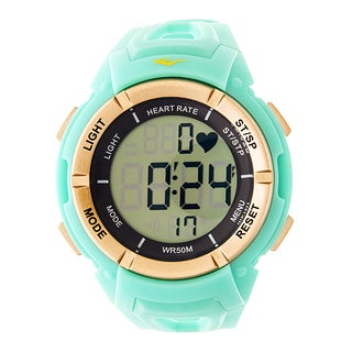 Everlast HR3 Heart Rate Monitor with Chest Strap Digital Sport Gold and Turquoise Watch