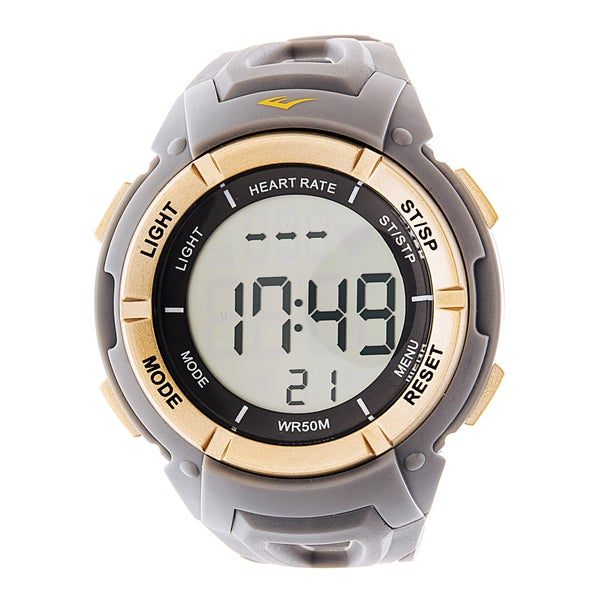 Everlast HR3 Heart Rate Monitor with Chest Strap Digital Sport Gold and Grey Watch
