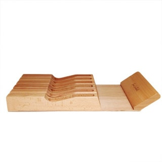 11-slot In-drawer Wood Knife Drawer Tray