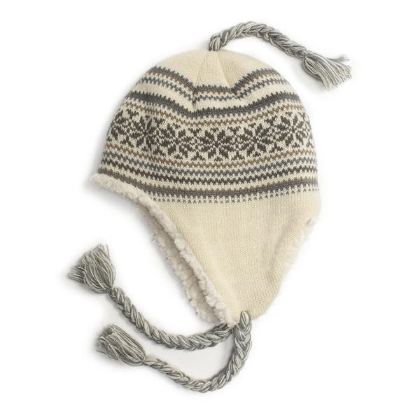 Muk Luks Women's Snowflake Zig Zag Tassel Helmet