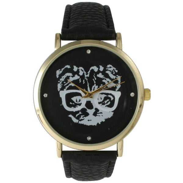 Olivia Pratt Women's Hipster Cat Watch