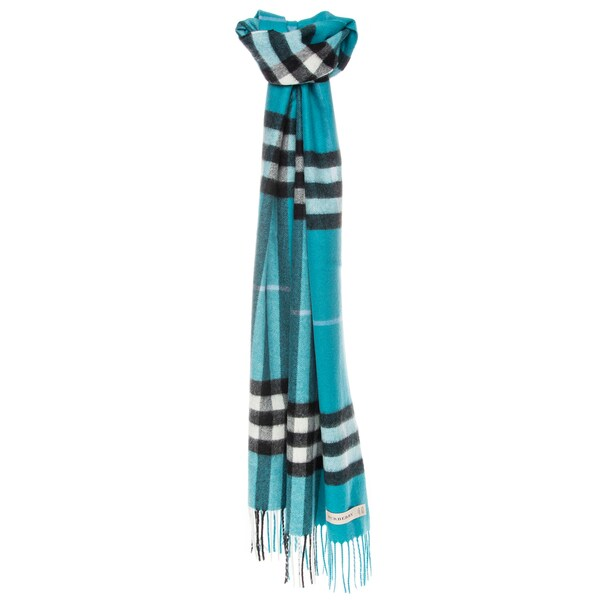 Burberry Giant Check Brushed Cashmere Scarf