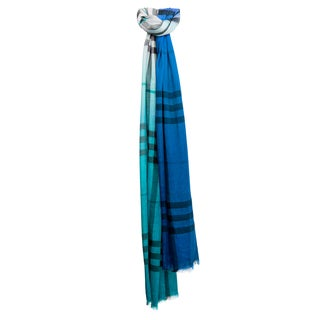 Burberry Ombre Giant Check Wool Silk Scarf