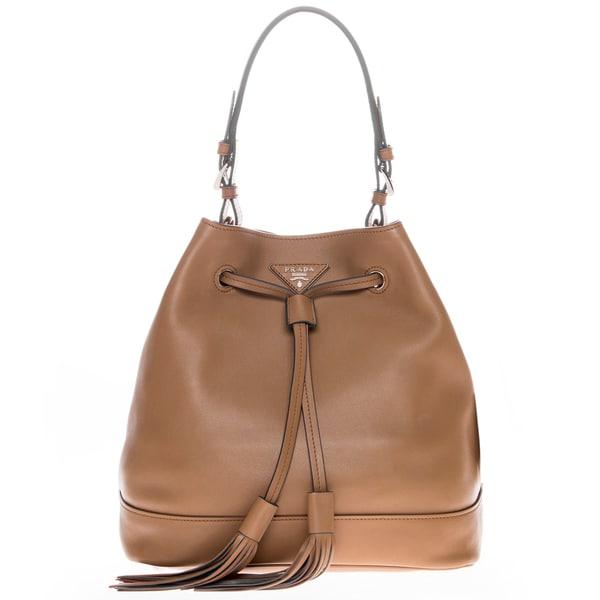 prada baby bag replica - Prada Brown Soft Leather Bucket Bag - 17659226 - Overstock.com ...