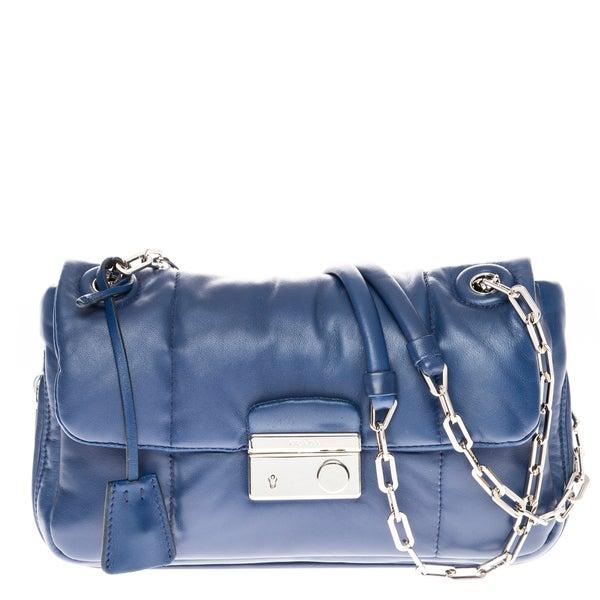 Prada Nappa Leather Bomber Shoulder Bag